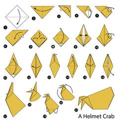 Make origami a helmet crab vector