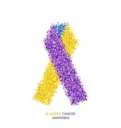 Modern bladder cancer awareness circles vector