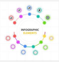 modern infographic elements circle design template vector image