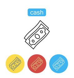 money dollar cash flat trendy icon vector image