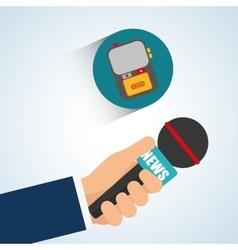 News design Broadcasting concept communication vector image