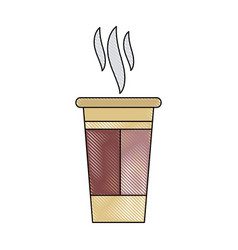 paper coffee cup portable fresh aroma break vector image