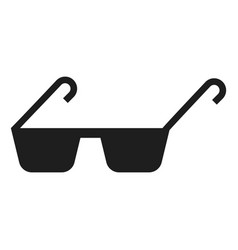polycarbonate glasses icon simple style vector image