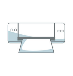 Printer device technology office paper supplies vector