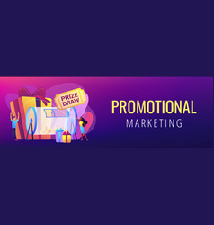 prize draw concept banner header vector image