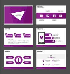 Purple polygon presentation templates Infographic vector