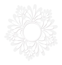 Round decorative floral frame vector