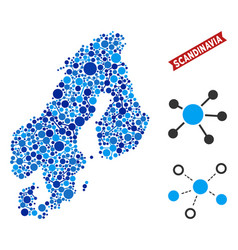 Scandinavia map connections composition vector