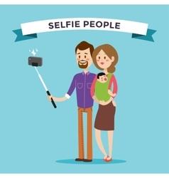 Selfie family portreit vector image