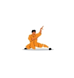 Shaolin monk sign vector