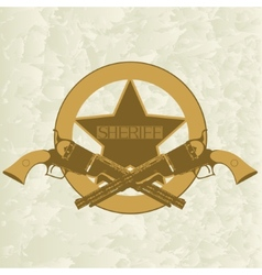 Sheriffs badge-1 vector image