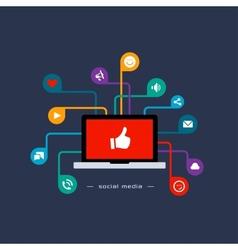 Social media flat concept vector