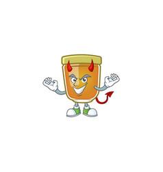 Sweet honey in character mascot devil vector