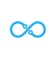 tech infinity logo icon design vector image