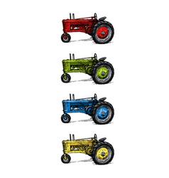 threewheeled tractor vector image