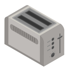 Toaster icon isometric style vector