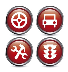 traffic buttons design vector image