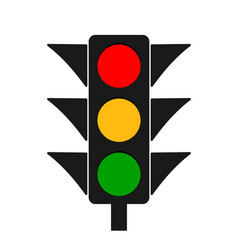 traffic light icon stoplight red yellow green vector image