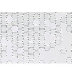 Transparent layered background with hexagons vector image