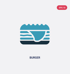 two color burger icon from united states concept vector image