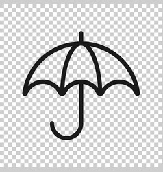 Umbrella icon in transparent style parasol on vector