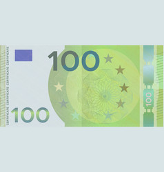 Voucher template banknote 100 euro with guilloche vector