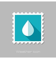 Water Rain Drop flat stamp Meteorology Weather vector