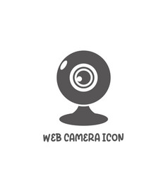 web camera icon simple flat style vector image
