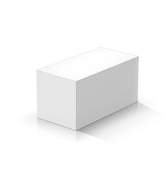 White rectangular prism vector
