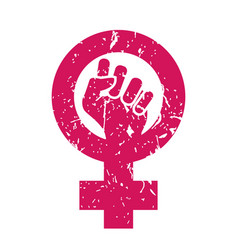 Woman symbol feminism power female icon vector