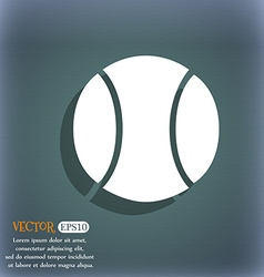 baseball icon On the blue-green abstract vector image