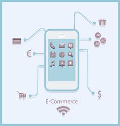 e-commerce3 vector image vector image