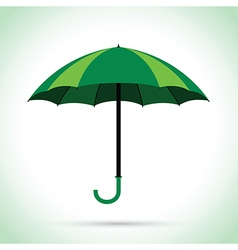 Green umbrella vector