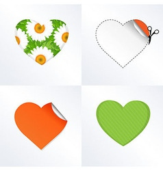 Hearts In Different Kinds vector image