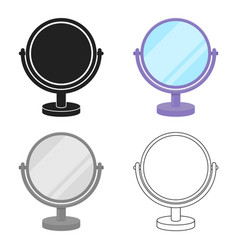 mirror icon in cartoon style isolated on white vector image