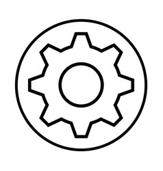monochrome contour with circular frame with pinion vector image