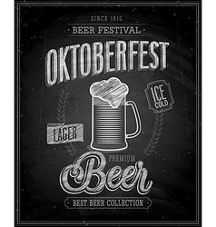 octoberfest chalk vector image