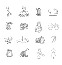 Sketch Handmade Icons Set vector image vector image
