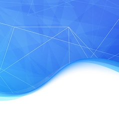Blue modern crystal wave background vector image vector image