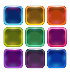 colorful glossy app icon frames vector image vector image