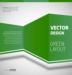 Green Layout vector image