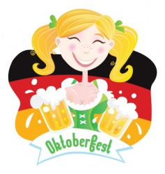 oktoberfest Bavarian female vector image vector image