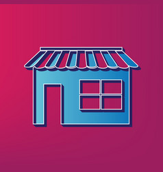 store sign blue 3d printed vector image