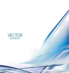 Abstract blue business vector image vector image