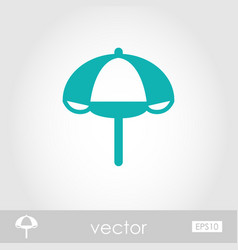 beach parasol outline icon summer vacation vector image vector image
