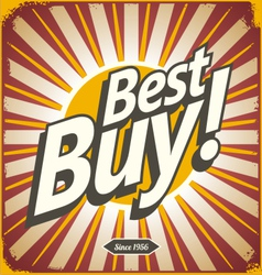 Best buy retro sign template vector image vector image