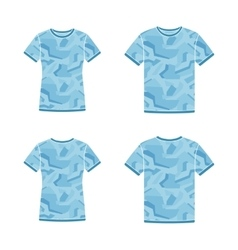 Blue short sleeve t-shirts templates with the vector image vector image
