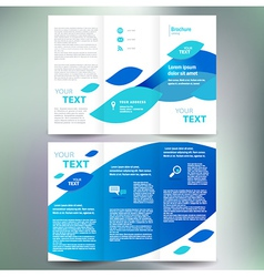 brochure geometric abstract element blue white vector image vector image