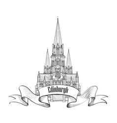 edinburgh sign scotland united kingdom travel vector image