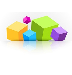 Background with cubes - for advertising vector